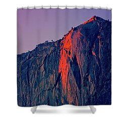 Horsetail Falls Yosemite Shower Curtain by Jim And Emily Bush