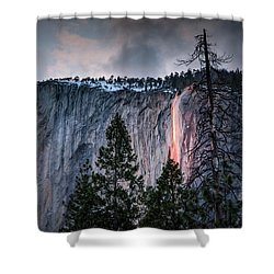 Horsetail Waterfall Glow 2017 Shower Curtain