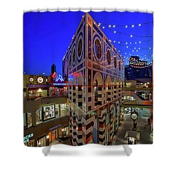 Horton Plaza Shopping Center Shower Curtain by Sam Antonio Photography