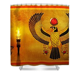 Horus Falcon God Shower Curtain by John Wills