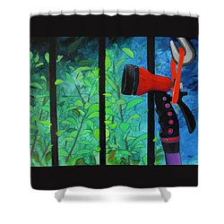 Hosed Shower Curtain