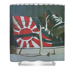 Hosoi Vans Shower Curtain by John Holdway
