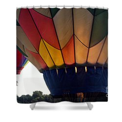 Shower Curtain featuring the painting Hot Air Balloon by Debra Crank