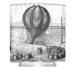 Hot Air Balloon Inflation Shower Curtain by Granger