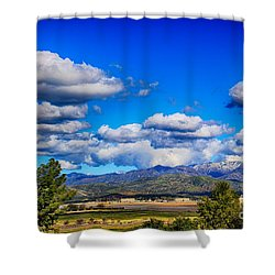 Hot Air Balloon Ride In Orange County Shower Curtain by Mariola Bitner