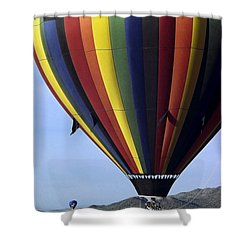 Hot Air Balloon  Shower Curtain by Sally Weigand