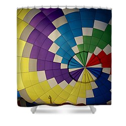 Hot Air Balloon Silhouette Shower Curtain