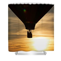 Hot Air Balloon Sunset Silhouette Shower Curtain