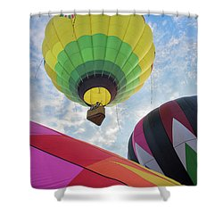 Hot Air Balloon Takeoff Shower Curtain