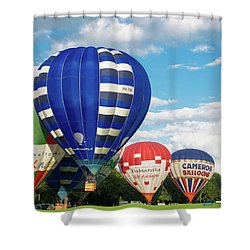 Hot Air Balloons Shower Curtain by Hans Engbers