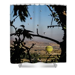 Hot Air Balloons In Cappadocia, Turkey Shower Curtain