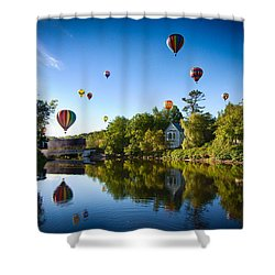 Hot Air Balloons In Queechee 2015 Shower Curtain
