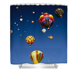 Hot Air Balloons Shower Curtain by Michael Howell - Printscapes