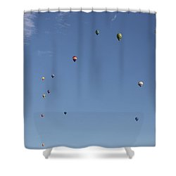 Hot Air Rising  Shower Curtain