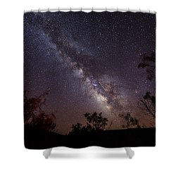 Hot August Night Under The Milky Way Shower Curtain