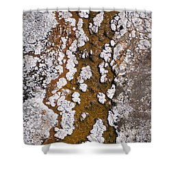 Hot Cascades Abstract Shower Curtain