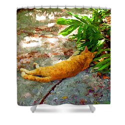 Hot Cat Shower Curtain
