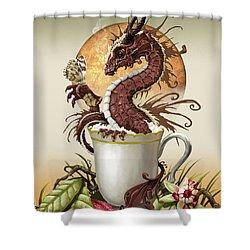Hot Chocolate Dragon Shower Curtain