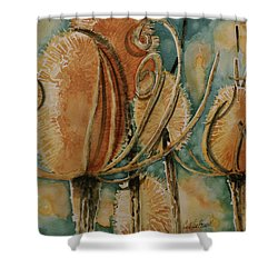 Hot Desert Sun Shower Curtain by Cynthia Powell