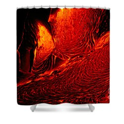 Hot Flowing Lava Shower Curtain by Bob Abraham - Printscapes
