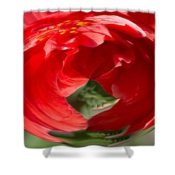 Shower Curtain featuring the photograph Hot Hibiscus by Cathy Donohoue