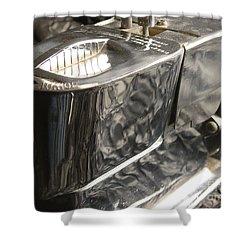 Hot Lather Shave Cream Dispenser Shower Curtain by Jason Freedman