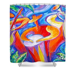 Hot Latin Jazz Shower Curtain