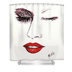 Hot Lips Shower Curtain