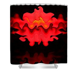 Shower Curtain featuring the photograph Hot Lips by Kristin Elmquist