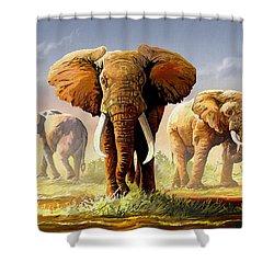 Hot Mara Afternoon Shower Curtain