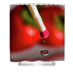 Hot Pepper Drops Shower Curtain