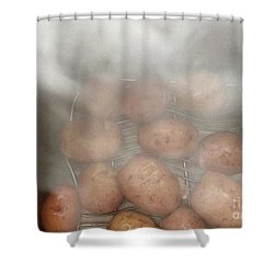 Hot Potato Shower Curtain by Kim Nelson