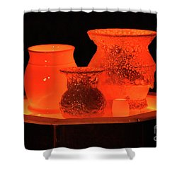 Shower Curtain featuring the photograph Hot Pots by Skip Willits