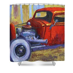 Hot Rod Chevy Truck Shower Curtain