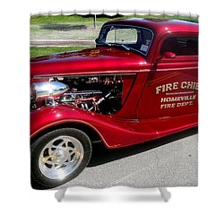 Hot Rod Chief Shower Curtain by Kevin Fortier