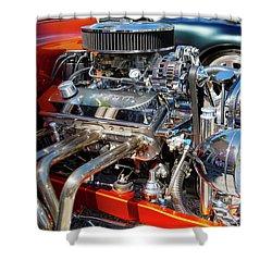 Hot Rod Engine 3 Shower Curtain by Arthur Dodd