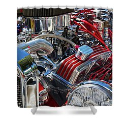 Hot Rod Engine Shower Curtain