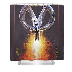 Hot Rod Power  Shower Curtain