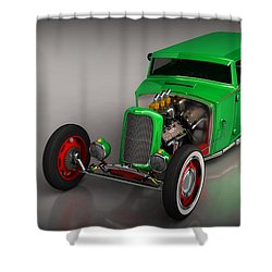 Hot Rod Sedan Shower Curtain