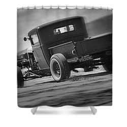 Hot Rods At Pendine 13 Shower Curtain