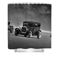 Hot Rods At Pendine 15 Shower Curtain