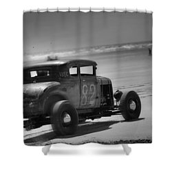 Hot Rods At Pendine 12 Shower Curtain