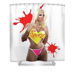 Hot Sauce Shower Curtain