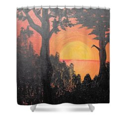 Shower Curtain featuring the painting Hot by Saundra Johnson
