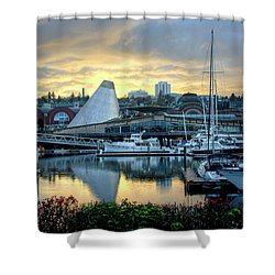 Hot Shop Cone Cloudy Twilight Shower Curtain by Chris Anderson