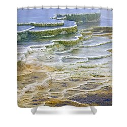 Shower Curtain featuring the photograph Hot Springs Runoff by Gary Lengyel