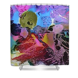 Shower Curtain featuring the painting Hot Stuff by Mary Sullivan