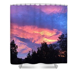 Hot Summer Night Shower Curtain by Russell Keating