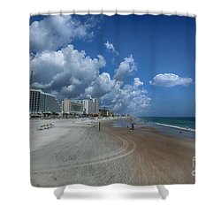 Hot Times In The Summertime Shower Curtain by Judy Hall-Folde