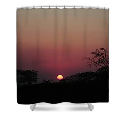 Hot Tropical Sunset Shower Curtain by Ellen O'Reilly